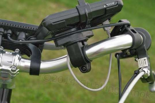 The biggest issue with wider handlebars is the wire going from the display to the 3-button control pad.