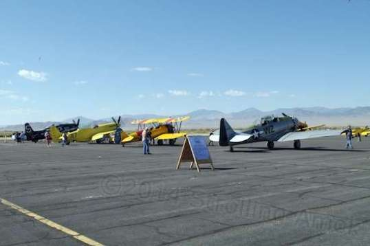 The warbirds were in their own area, open to visitors until the flights began.