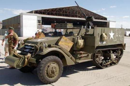 I haven't seen a halftrack in person until now. Just in movies.