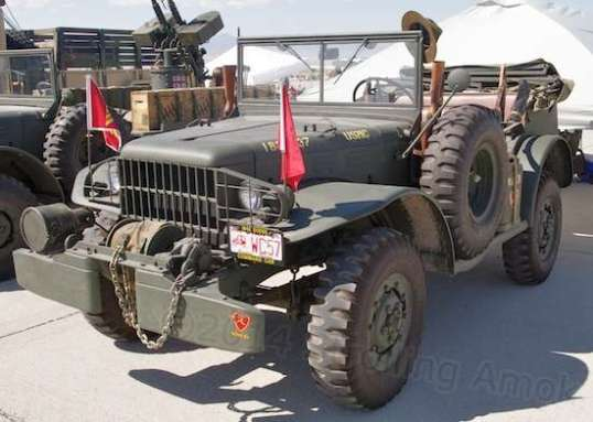 This 1942 Dodge command car had a lot of nice equipment touches, making it look as-used rather than stripped out clean.