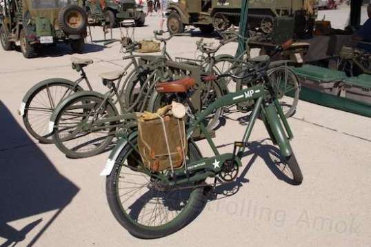 Wow, who would collect WWII military bicycles? I was sorry I couldn't wheel in my Evelo Aurora for introductions.