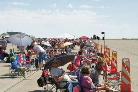 A small piece of the Peanut Gallery. Many of the planes paraded up and down the open area to the right.