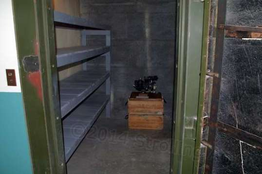 One of three safes in the building, used to hold the bombsights.