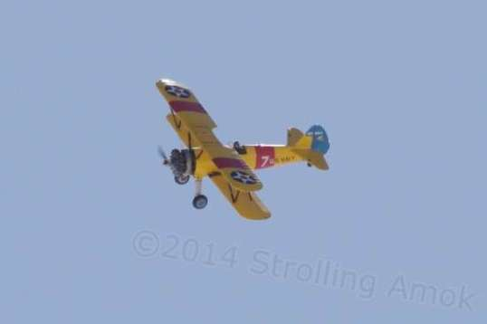 No, I'm not confusing posts. This biplane was in the Wendover Air Show the day before.