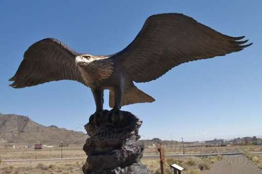 This recreation of an Eagle shows what was planted at every county line along the Victory Highway, and only five originals are known to exist today.