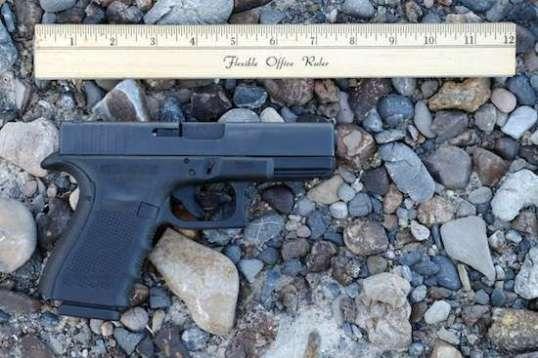 A Glock Model 23 in .40SW.