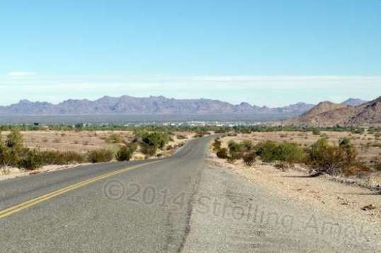 Yay! Quartzsite is off in the distance.