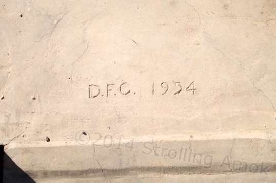 "The concrete floor and front porch surprised me, especially since it remains in superb condition. Looks like ""DFC"" knew what he was doing in 1954."