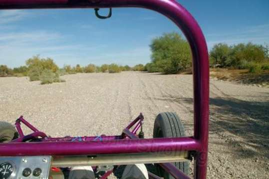 Then finishing up along Quartzsite's main wash, where slowing down in the deep gravel can mean getting stuck.