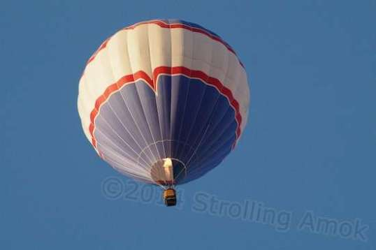 But up it went, and I assumed they'd stay high as they went over more of the campground in the 2-3 MPH wind.