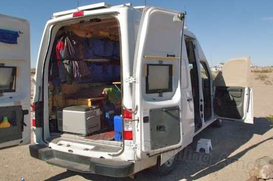 Both rear doors can open fully, and are held well by magnets built into the doorstops. Boondocking winds, maybe not so much, but they're fine for everyday use.