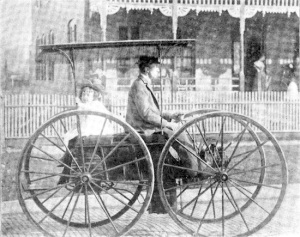 This steam-powered horseless carriage was made by John Einig of Jacksonville, Florida.