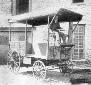 A few envisioned the new transport as more than a toy. Ready for work, a motor van by Cruickshank Engine Works, Providence, R.I.