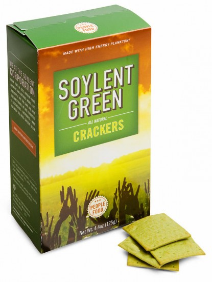 Yes, you can now become a real people-pleaser by serving Soylent Green Crackers at your next get together!