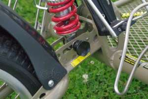 The spring is adjustable in leverage, though you give up a little suspension travel for a stronger setting.