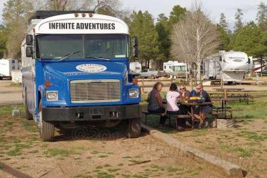 They are one of several outfits offering visitors extended camping tours all across North America.