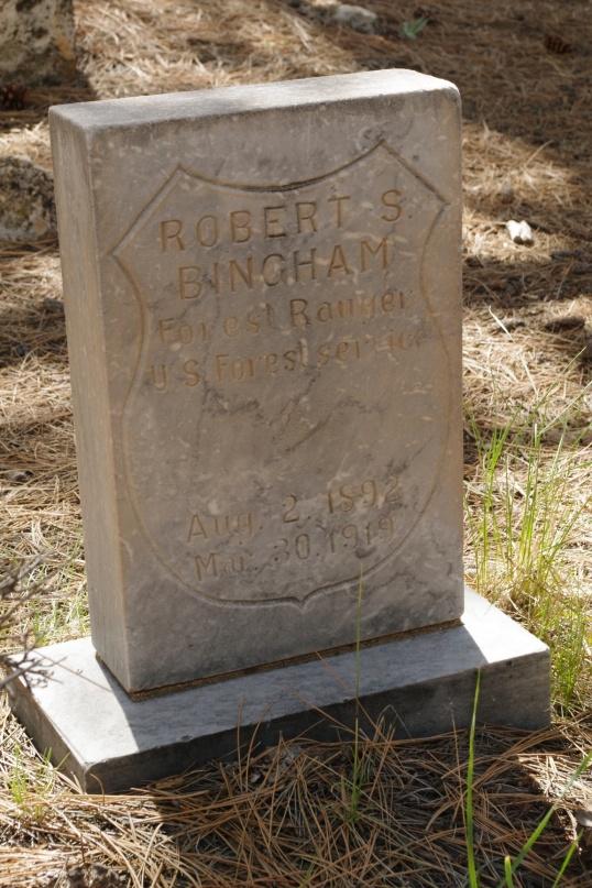 "Robert S. Bingham, 1892-1919. ""Forest Ranger, U.S. Forest Service."""