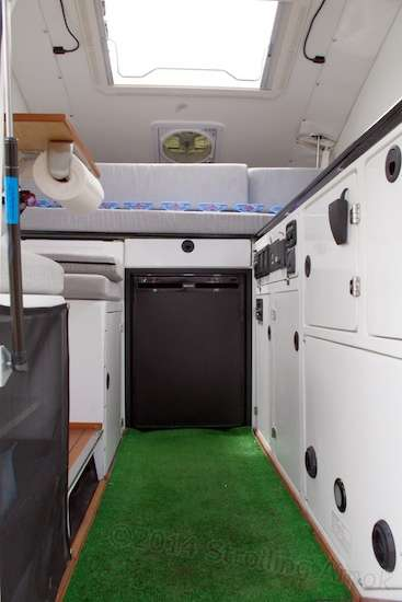 The interior of this particular XP Camper shows a rather liveable interior.