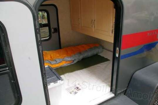 The sleeping and storage area of a GOBI.