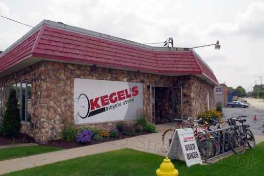 Kegel's was fairly busy. The Mighty Aurora is leaning on the bike rack, at right.