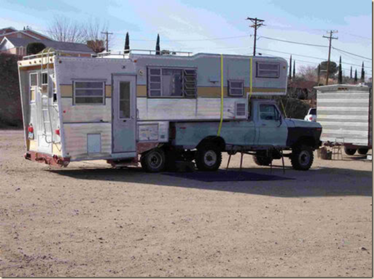 Okaaaay! This truck camper raises a lot of questions, questions mainly about the psychological status of its owner.