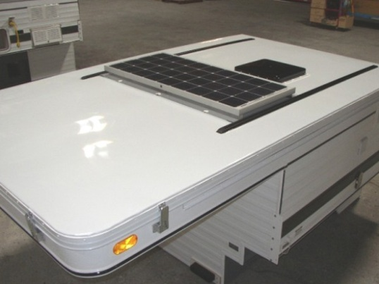 Four Wheel's 100W roof panel is one option that's light enough to cause no issues.