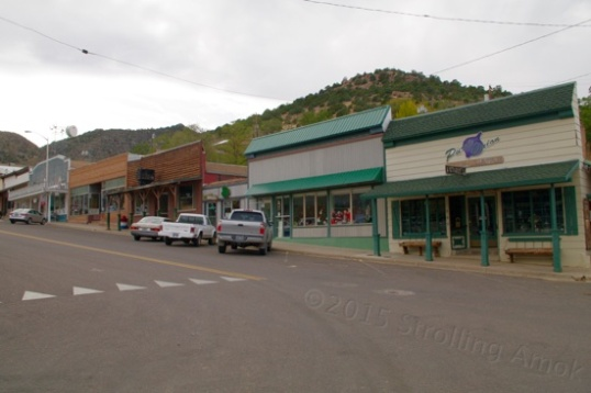 Main Street, and the cafe/bakery on the right dates back to 1907.