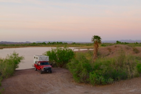 Now and then I could hear a fish flop around in the water, and often heard the water lapping on the shoreline just a few feet away. Free. This is a campsite that the Mighty Defiant travel trailer can't even get to, so camping in a place like this is quite a treat, bugs and all.