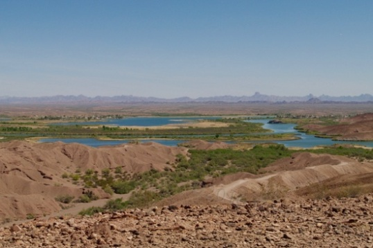 The beautious Fergusen Lake near Yuma, Arizona.