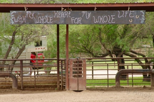 Sign in a ranch in Wickenburg, Arizona.