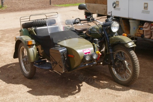 Also parked at the show entrance was this 2WD Russian-made bike.