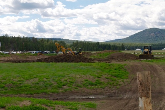Heavy equipment is still working to complete the course!