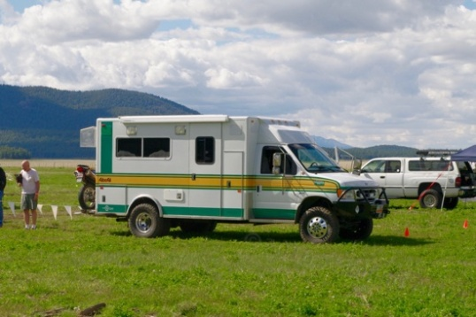 Here's a similar one, except that it was never an ambulance. A custom build by a body outfitter.