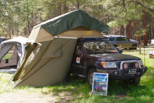 Given a proper mount, SUVs and other enclosed-body vehicles are a popular way to use rooftop tents.