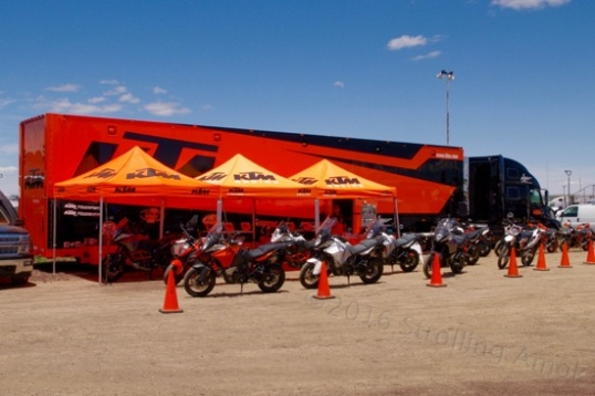 There are a ton of KTM riders at this event, and KTM apparently wants to help that along.