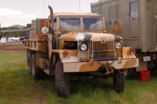 I'm not sure why this old WWII 6x6 was here, but it does go overland, and it is impressive.