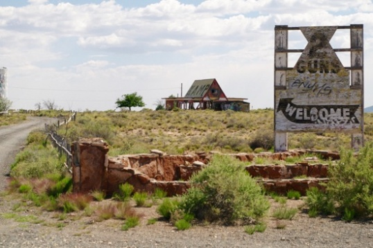 Two Guns, Arizona. What's left of an early tourist trap.