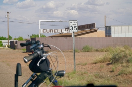 Curell's Bargain Barn along what I'm convinced is the true entry of 66 into the west end of town. R.I.P.