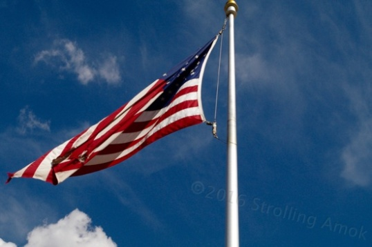 The flag from the Pentagon. These colors never run.