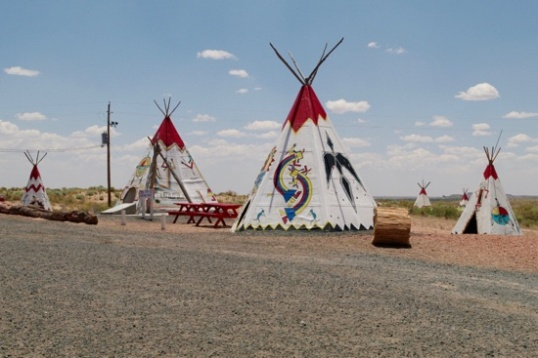 They too had a plethora of gigantic teepees, more visible from the Interstate.