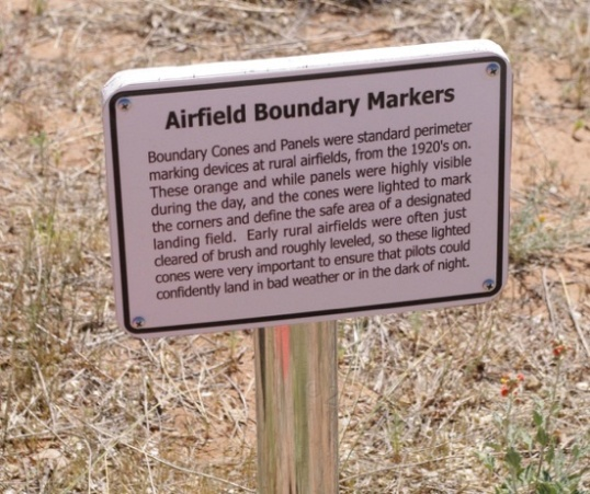 The sign for the boundary markers.