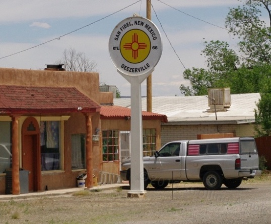 The people in San Fidel, New Mexico have a sense of humor.