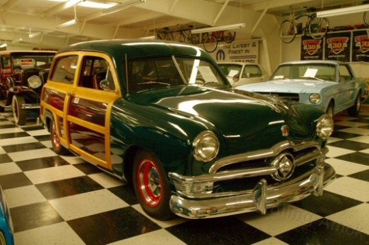 "A 1949 Ford ""woodie"" wagon, yours for just $95,000. About half the cars were for sale."