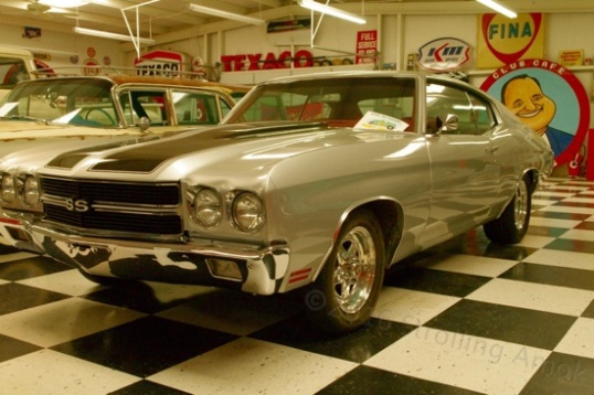 An alleged 1970 Chevelle SS. I say alleged, because it lacks proper badging to ID which of two engines it has. Faux Super Sport Chevelles and Camaros outnumber the real ones, but this one is not for sale, so it hardly matters.