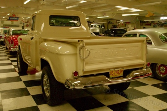 A 4x4 Chevrolet pickup, somewhere around 1958.