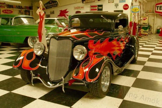 If street rods are your thing, this all-steel Ford is a well-painted example. They are popular enough that fiberglass replicas abound. So this one's worth money, and is not for sale.