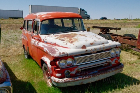 Another rarity, an old Dodge panel truck, but with the side window option. A station wagon to some and a 2WD pre-SUV to others, it's interesting (to me, anyway).