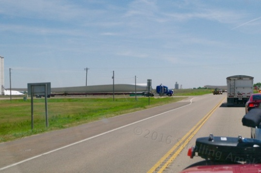 Wind generator blades in transit.