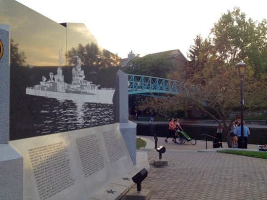 The canal includes a memorial to the USS Indianapolis and the truly massive loss of life resulting more from narcissism and incompetence within the naval administration than the Japanese sub that sunk her.
