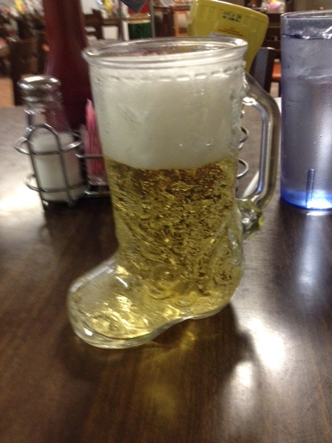 I wasn't sure what to think of Das Boot, but it kept the beer cold. Made in Mexico.
